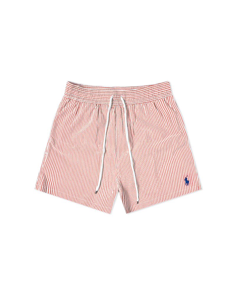 Seersucker Swim Short - Red