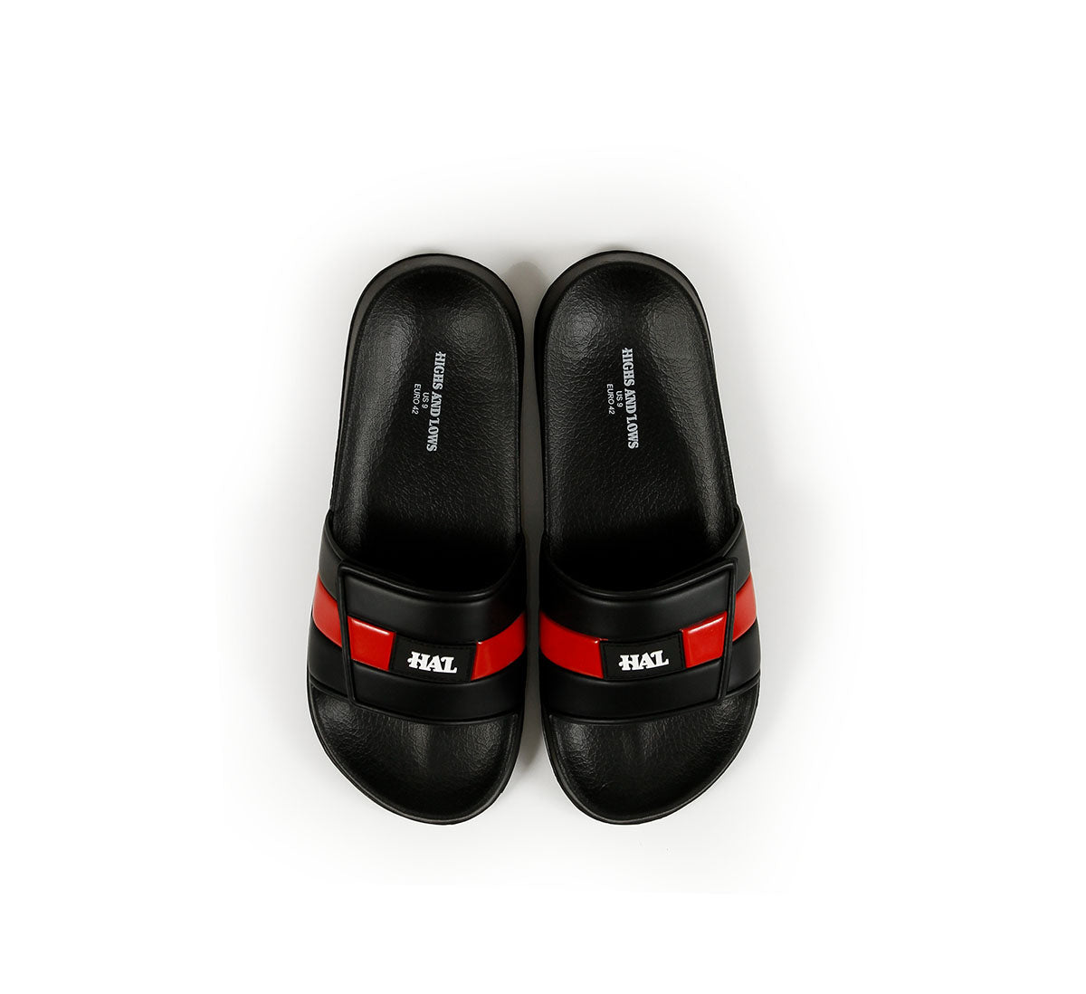 HAL S19 Trademark Velcro Slides Black/Red