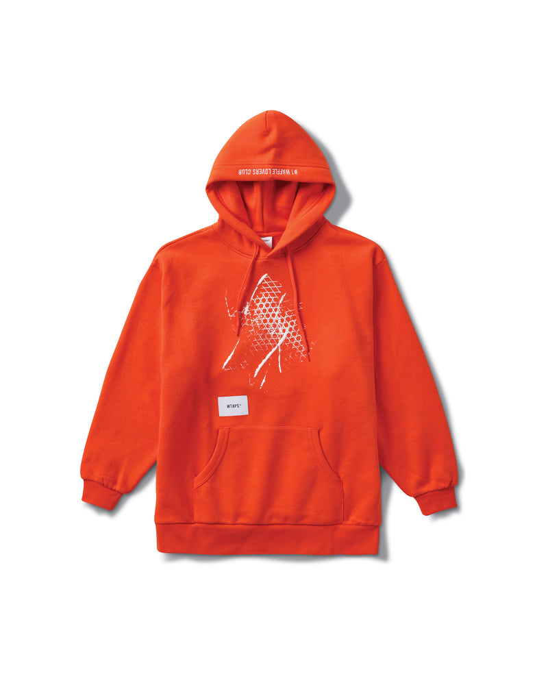 WTAPS Hooded Sweatshirt - Mandarin Red