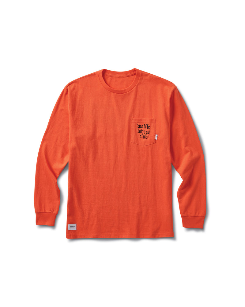 WTAPS Long Sleeve T-Shirt - Mandarin Red