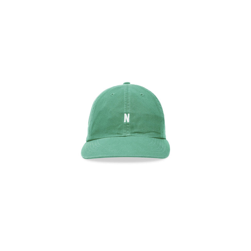 Norse Projects Twill Sport Cap - Sporting Green