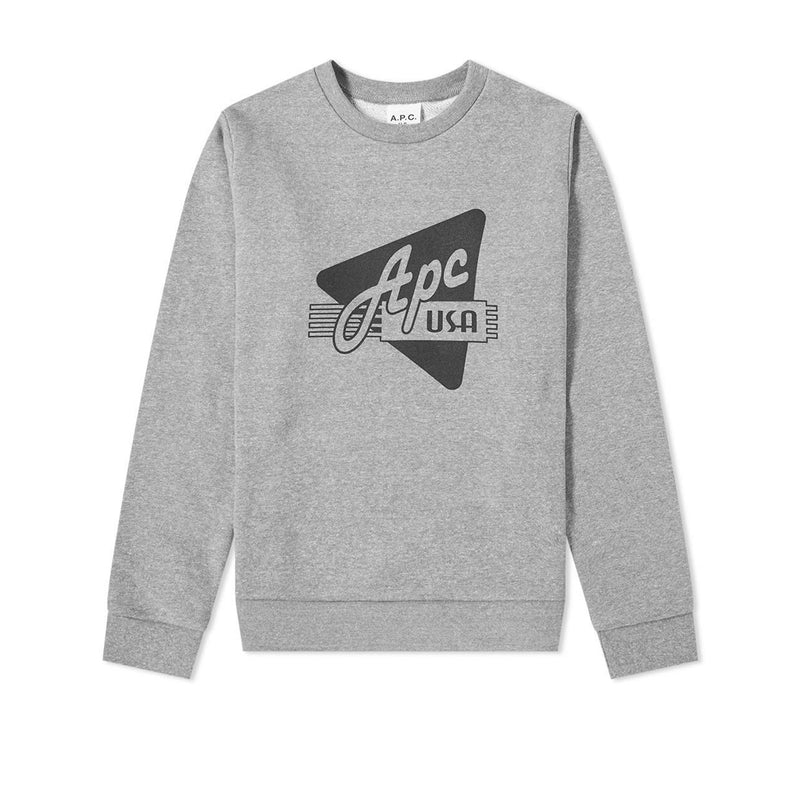A.P.C. S20 Sweat Asa- Gris Clair