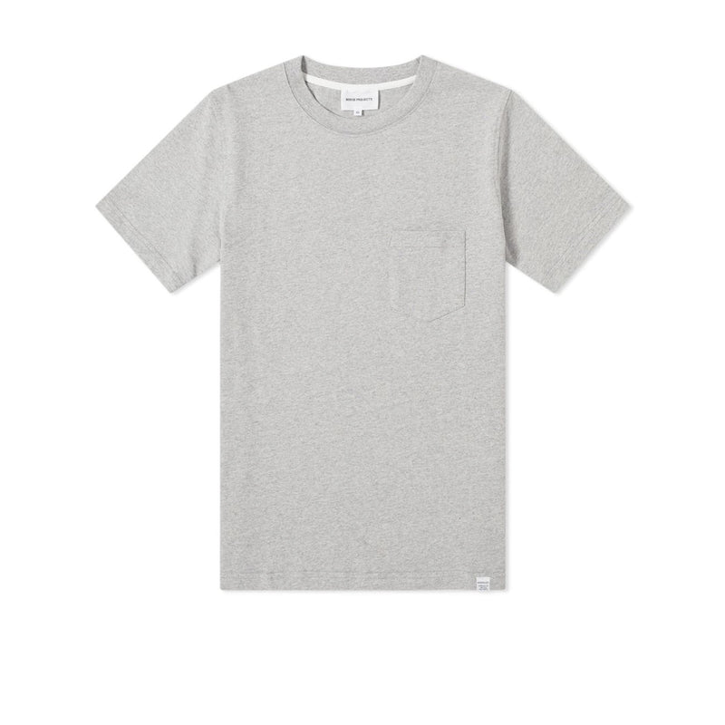 Norse Projects Johannes Pocket T-Shirt - Light Grey