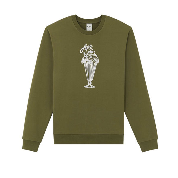 A.P.C. S20 Sweat Kurt- Khaki