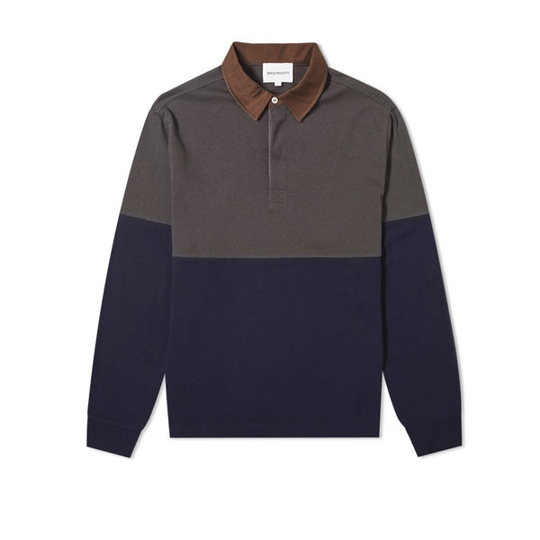 Norse Projects Ruben Polo Colour Block - Duck