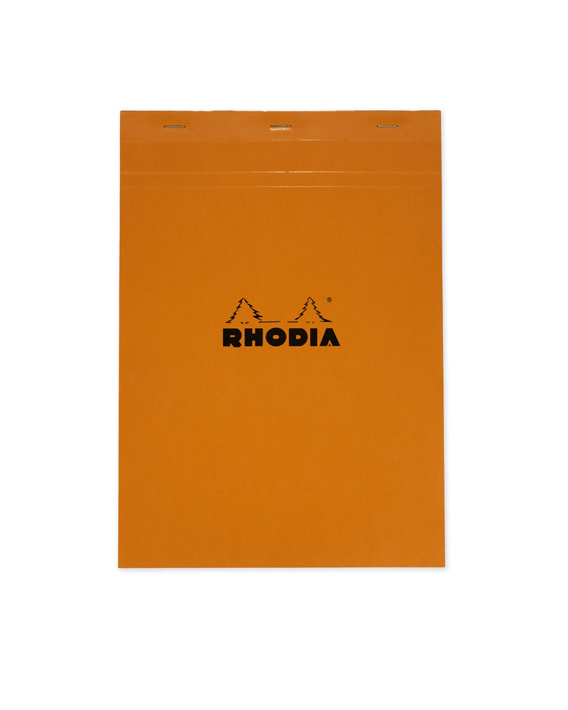 RHODIA Top Stapled A4 Pad 5x5 Grid - Orange