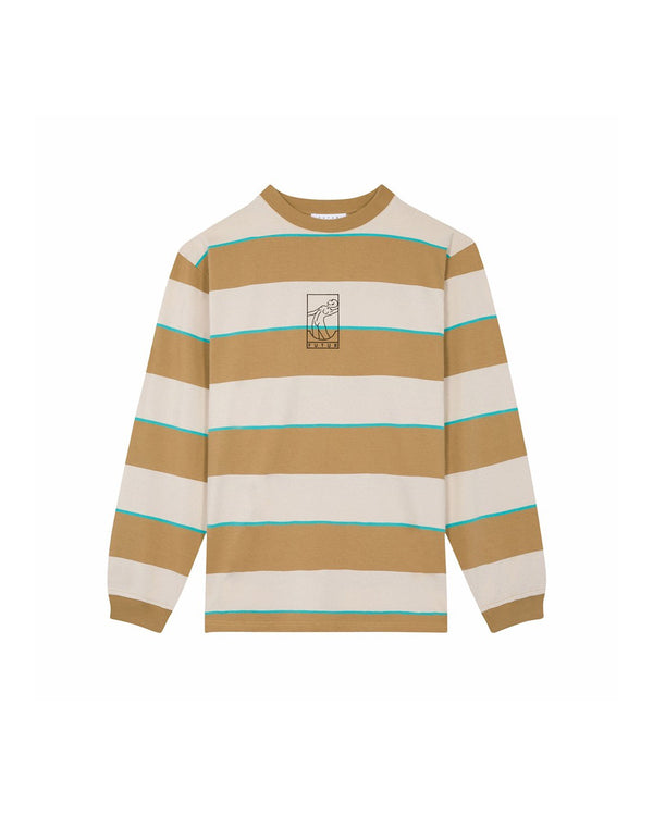 Futur Season 10 G Fit Striped LS T-shirt - Sand