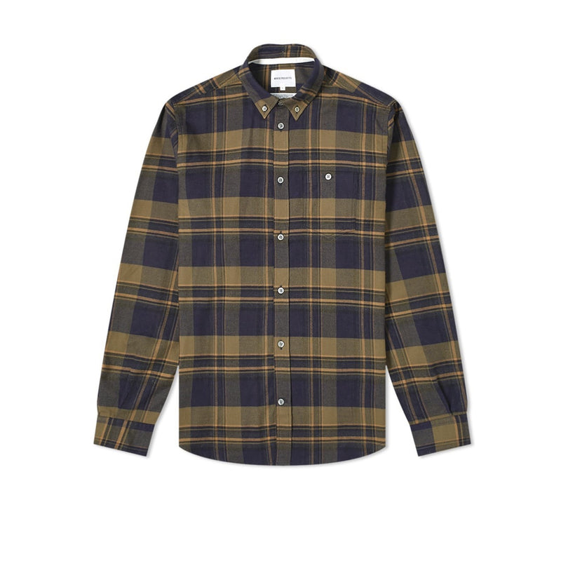 Norse Projects Anton Flannel Check - Ivy Green