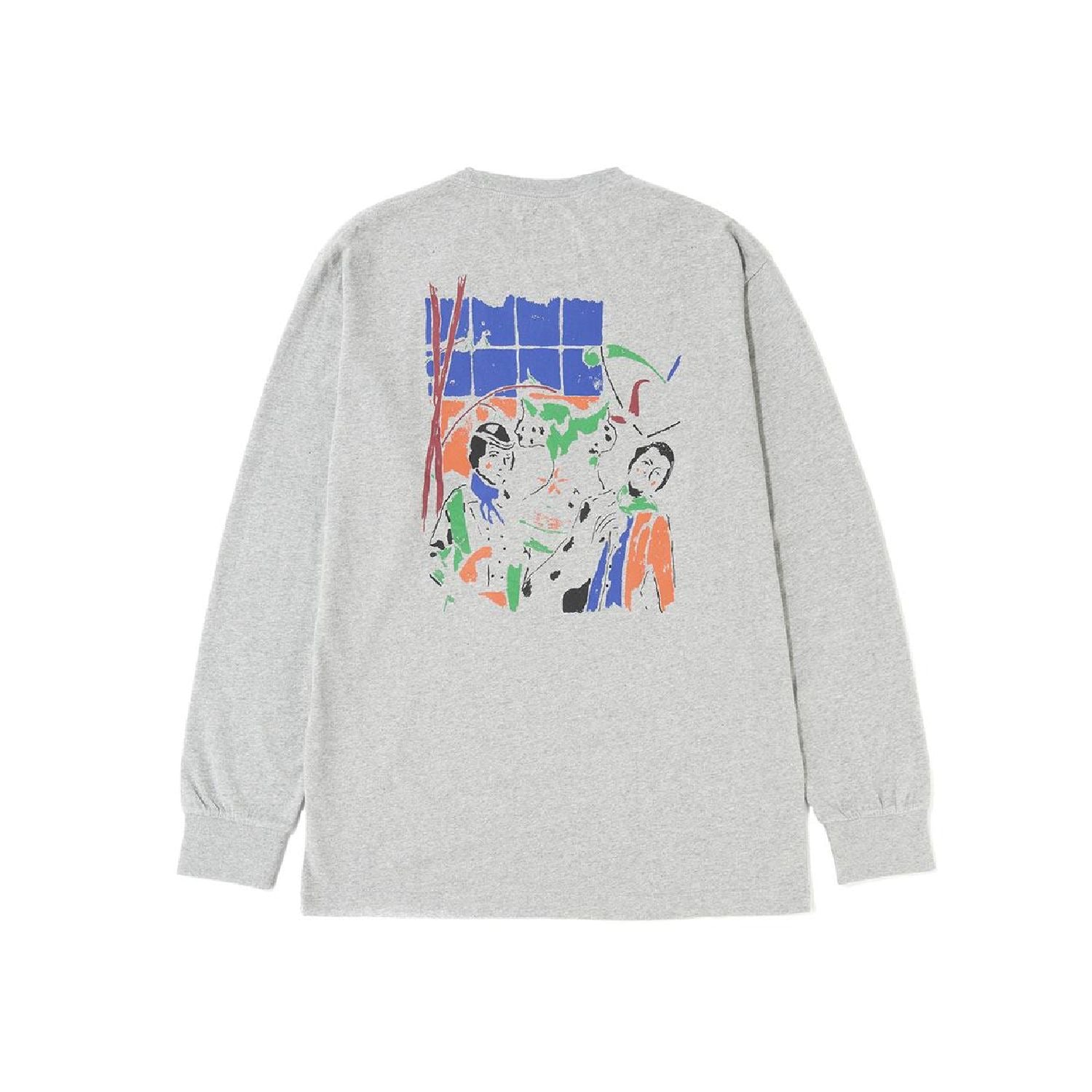 Reception Melkerij L/S T-Shirt - Grey