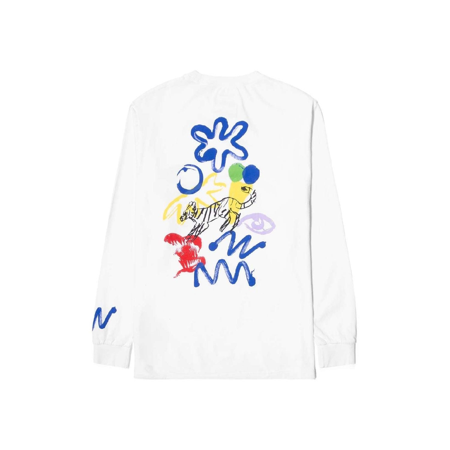 Reception Muderacks L/S T-Shirt - White