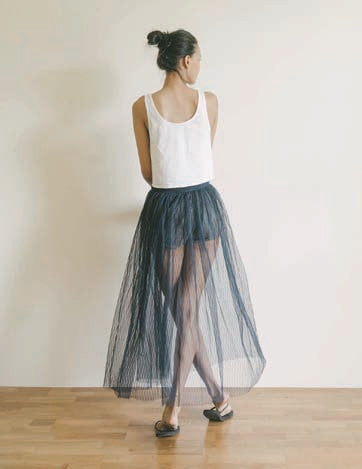 Tulle Pleats Skirt