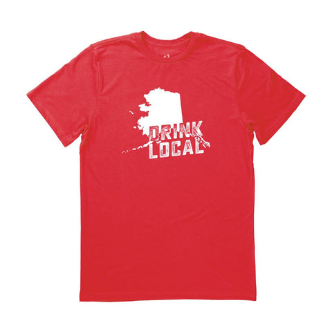 Locally Grown Clothing Co. Men's Alaska Drink Local State Tee