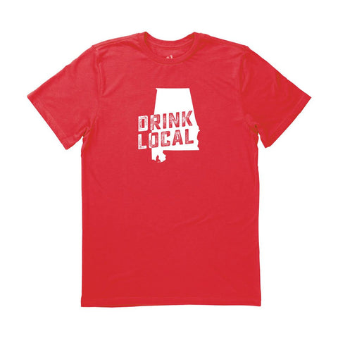 Locally Grown Clothing Co. Men's Alabama Drink Local State Tee