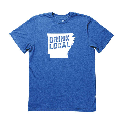 Locally Grown Clothing Co. Men's Arkansas Drink Local State Tee