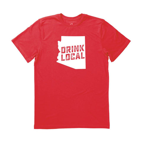 Locally Grown Clothing Co. Men's Arizona Drink Local State Tee