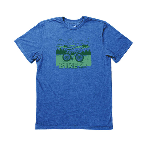Locally Grown Clothing Co. Men's Bike Local (2-Color) Tee