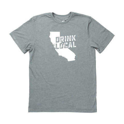 Locally Grown Clothing Co. Men's California Drink Local State Tee
