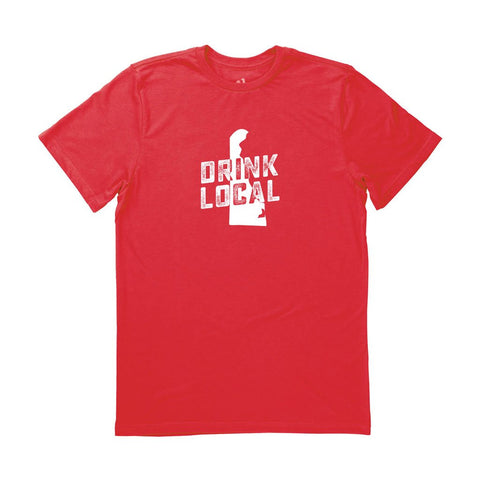 Locally Grown Clothing Co. Men's Delaware Drink Local State Tee