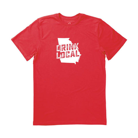 Locally Grown Clothing Co. Men's Georgia Drink Local State Tee