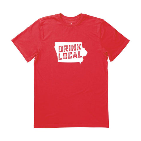 Locally Grown Clothing Co. Men's Iowa Drink Local State Tee