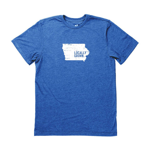 Locally Grown Clothing Co. Men's Iowa Solid State Tee