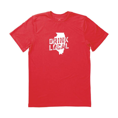 Locally Grown Clothing Co. Men's Illinois Drink Local State Tee