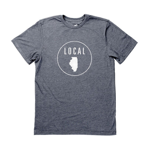 Locally Grown Clothing Co. Men's Illinois Local Tee