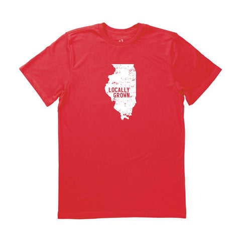 Locally Grown Clothing Co. Men's Illinois Solid State Tee