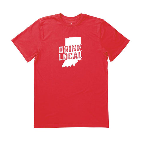 Locally Grown Clothing Co. Men's Indiana Drink Local State Tee