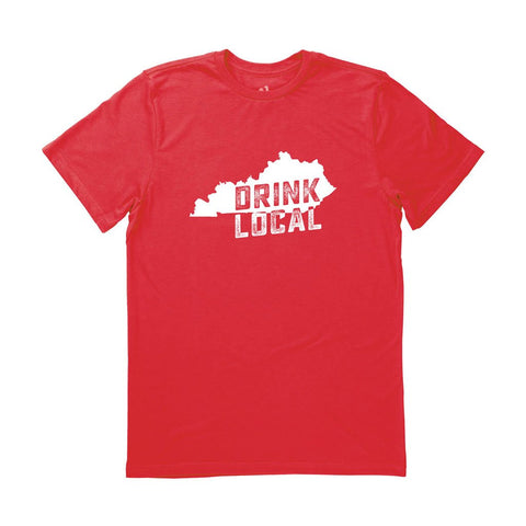 Locally Grown Clothing Co. Men's Kentucky Drink Local State Tee