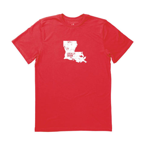 Locally Grown Clothing Co. Men's Louisiana Solid State Tee