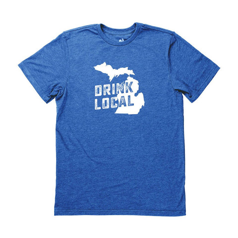 Locally Grown Clothing Co. Men's Michigan Drink Local State Tee