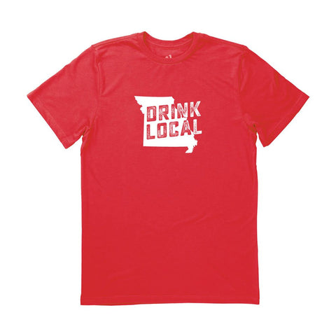 Locally Grown Clothing Co. Men's Missouri Drink Local State Tee