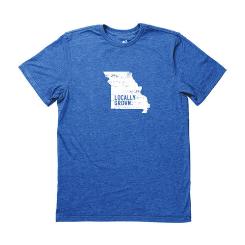 Locally Grown Clothing Co. Men's Missouri Solid State Tee