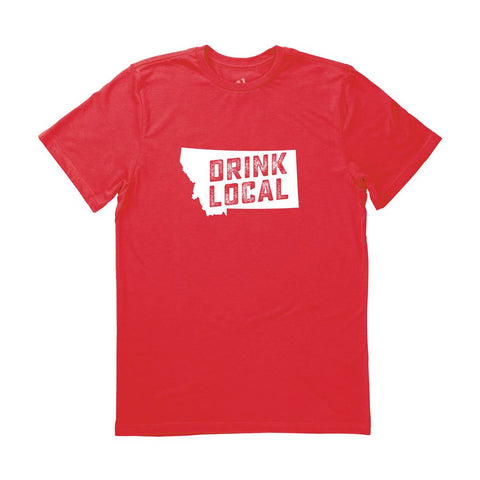 Locally Grown Clothing Co. Men's Montana Drink Local State Tee