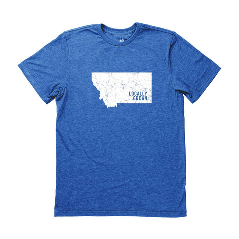Locally Grown Clothing Co. Men's Montana Solid State Tee