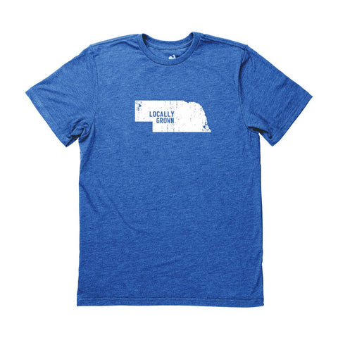 Locally Grown Clothing Co. Men's Nebraska Solid State Tee