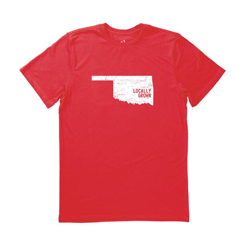 Locally Grown Clothing Co. Men's Oklahoma Solid State Tee