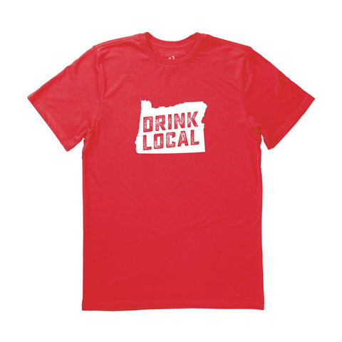 Locally Grown Clothing Co. Men's Oregon Drink Local State Tee