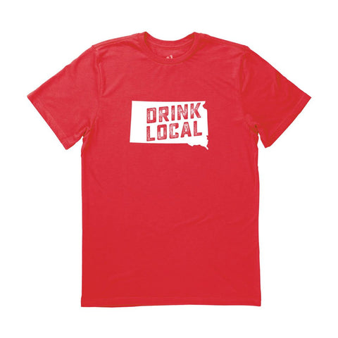 Locally Grown Clothing Co. Men's South Dakota Drink Local State Tee