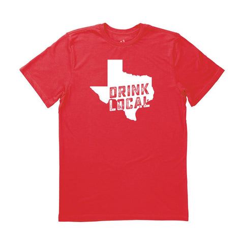 Locally Grown Clothing Co. Men's Texas Drink Local State Tee