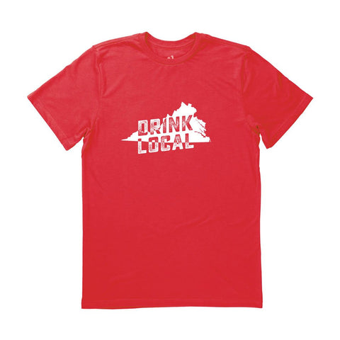 Locally Grown Clothing Co. Men's Virginia Drink Local State Tee