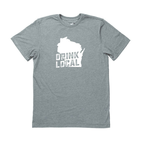 Locally Grown Clothing Co. Men's Wisconsin Drink Local State Tee