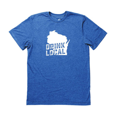 Men's Wisconsin Drink Local State Tee