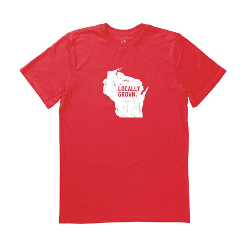 Locally Grown Clothing Co. Men's Wisconsin Solid State Tee