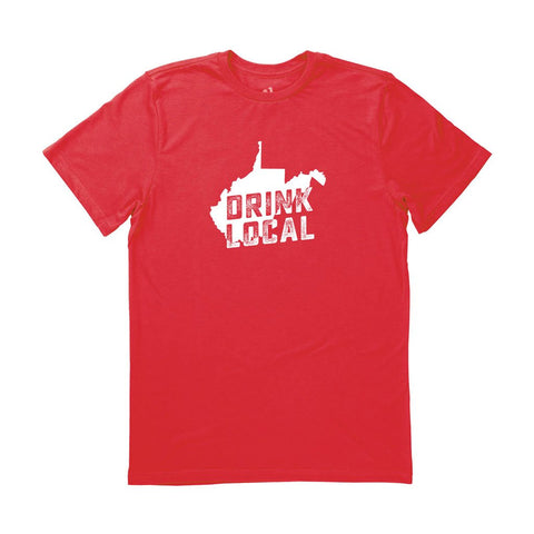 Locally Grown Clothing Co. Men's West Virginia Drink Local State Tee