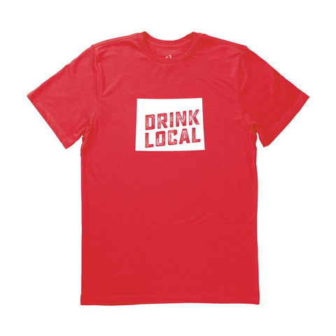 Locally Grown Clothing Co. Men's Wyoming Drink Local State Tee