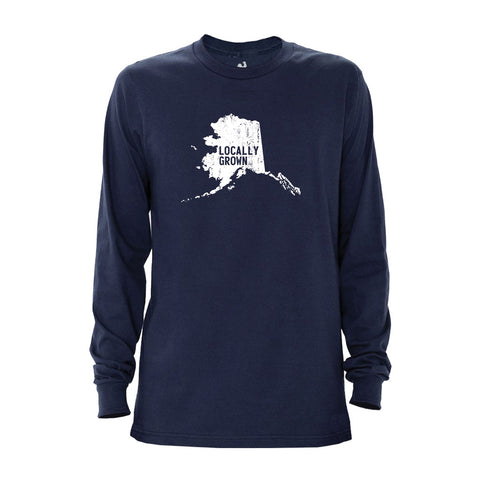 Locally Grown Clothing Co. Men's Alaska Solid State Long Sleeve Crew