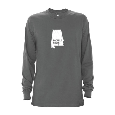 Locally Grown Clothing Co. Men's Alabama Solid State Long Sleeve Crew
