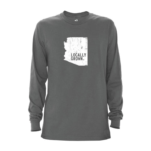 Locally Grown Clothing Co. Men's Arizona Solid State Long Sleeve Crew